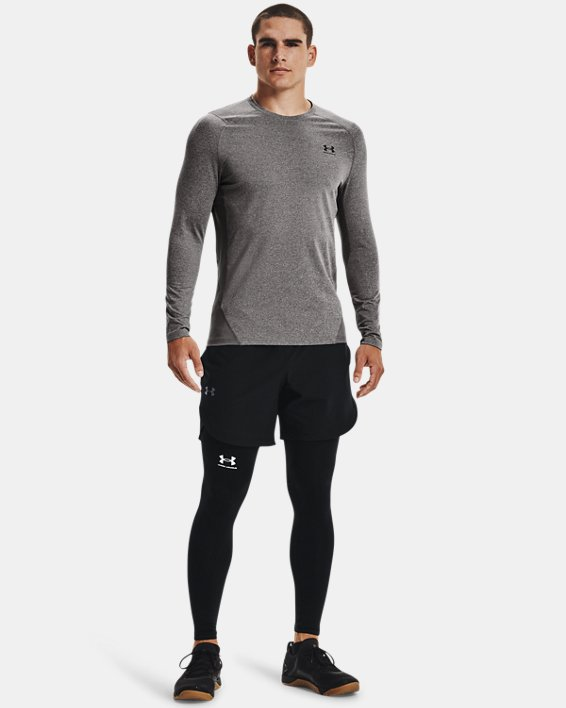 Men's ColdGear® Armour Fitted Crew, Gray, pdpMainDesktop image number 2