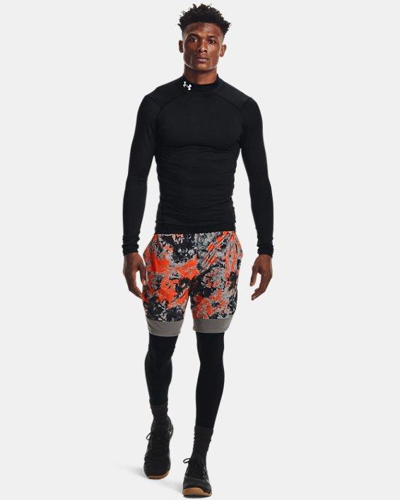 Men's ColdGear® Armour Compression Mock, Black, pdpMainDesktop image number 2
