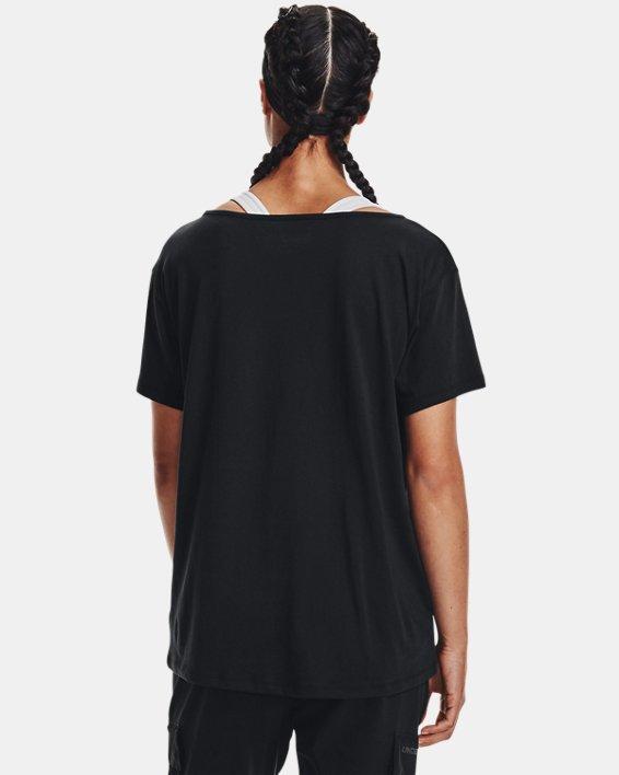 Women's UA Oversized Wordmark Graphic T-Shirt, Black, pdpMainDesktop image number 1