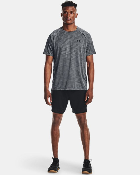 Men's UA Tech™ 2.0 Dash Short Sleeve, Gray, pdpMainDesktop image number 2