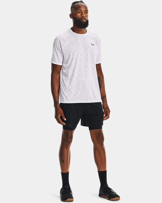 Men's UA Tech™ 2.0 Dash Short Sleeve, White, pdpMainDesktop image number 2