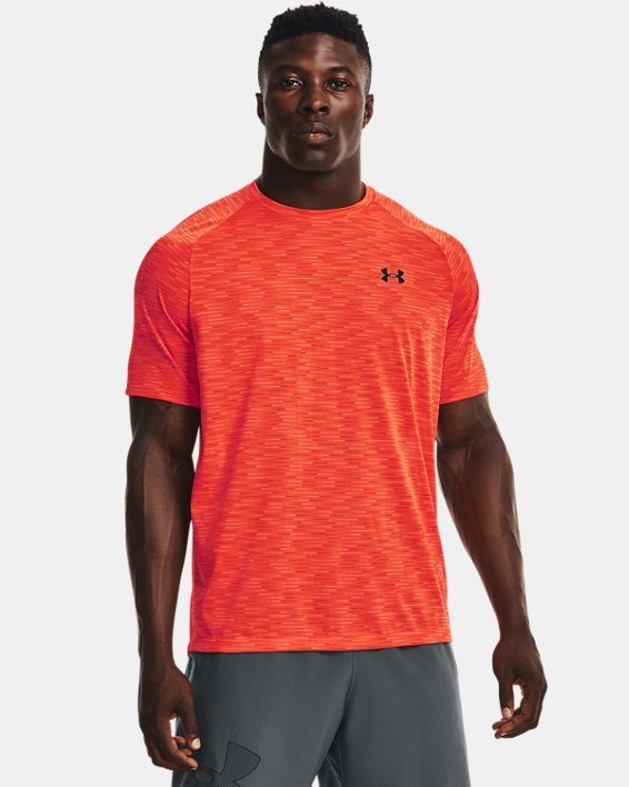 Men's UA Tech™ 2.0 Dash Short Sleeve, Orange, pdpMainDesktop image number 0