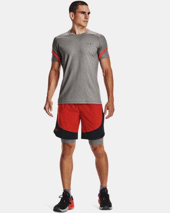 Men's UA HIIT Woven Colorblock Shorts, Orange, pdpMainDesktop image number 2