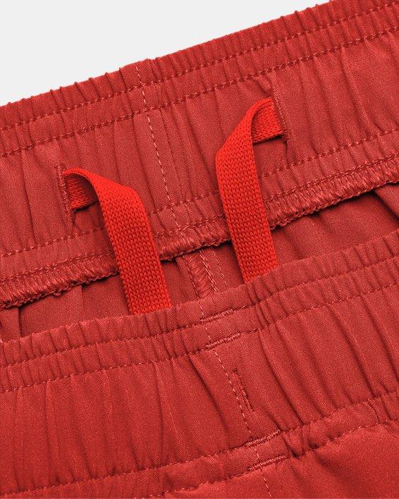 Men's UA HIIT Woven Colorblock Shorts, Orange, pdpMainDesktop image number 6