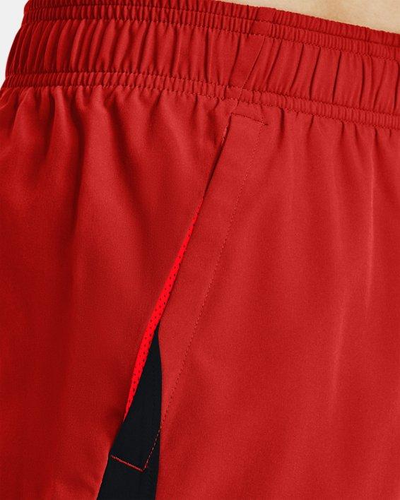 Men's UA HIIT Woven Colorblock Shorts, Orange, pdpMainDesktop image number 4