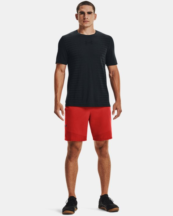 Men's UA Seamless Wordmark Short Sleeve, Black, pdpMainDesktop image number 2