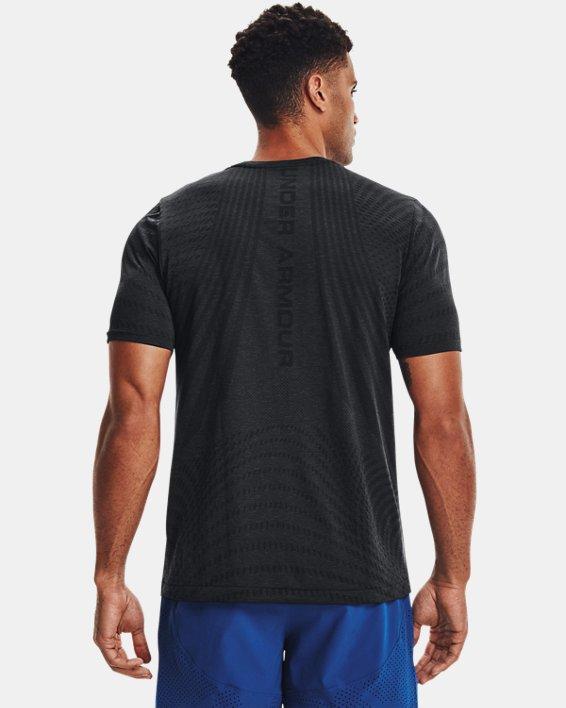 Men's UA RUSH™ HeatGear® Seamless Illusion Short Sleeve, Black, pdpMainDesktop image number 1