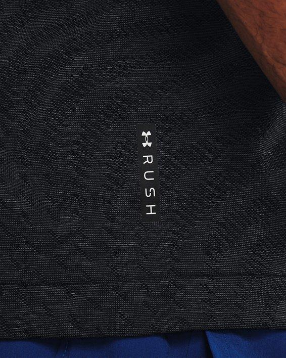 Men's UA RUSH™ HeatGear® Seamless Illusion Short Sleeve, Black, pdpMainDesktop image number 3