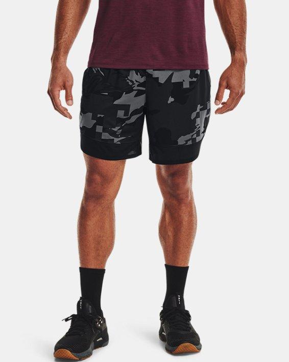 "Men's UA Stretch Train 7"" Camo Shorts, Gray, pdpMainDesktop image number 1"