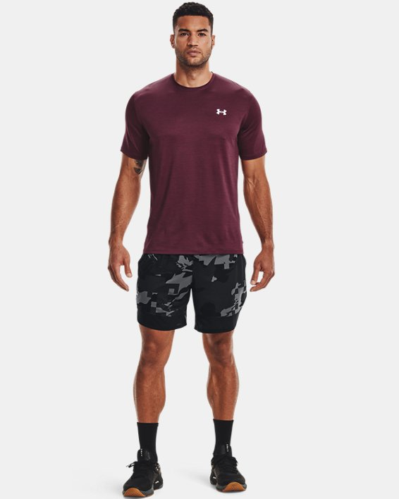 "Men's UA Stretch Train 7"" Camo Shorts, Gray, pdpMainDesktop image number 0"