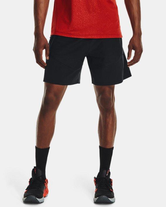 Men's UA Knit Woven Hybrid Shorts, Black, pdpMainDesktop image number 1