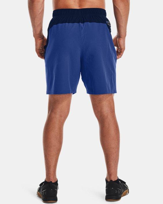 Men's UA Knit Woven Hybrid Shorts, Navy, pdpMainDesktop image number 2