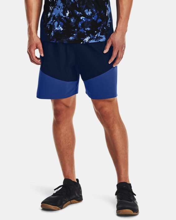 Men's UA Knit Woven Hybrid Shorts, Navy, pdpMainDesktop image number 1