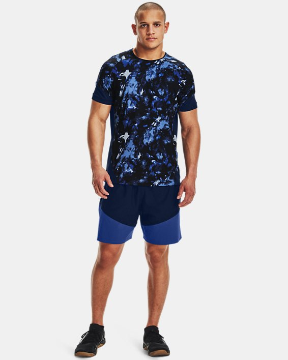 Men's UA Knit Woven Hybrid Shorts, Navy, pdpMainDesktop image number 0