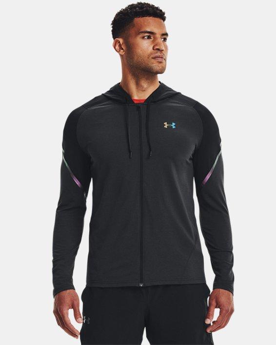 Men's UA RUSH™ HeatGear® Full-Zip Hoodie, Black, pdpMainDesktop image number 1