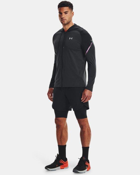 Men's UA RUSH™ HeatGear® Full-Zip Hoodie, Black, pdpMainDesktop image number 0