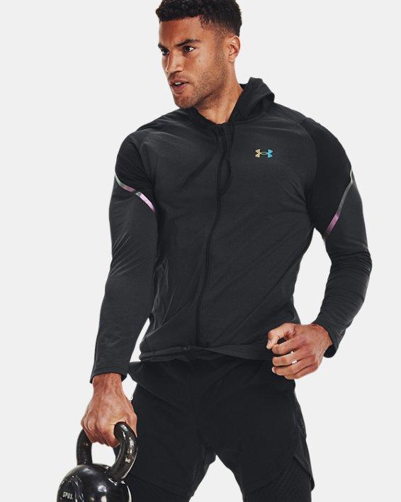 Men's UA RUSH™ HeatGear® Full-Zip Hoodie, Black, pdpMainDesktop image number 6