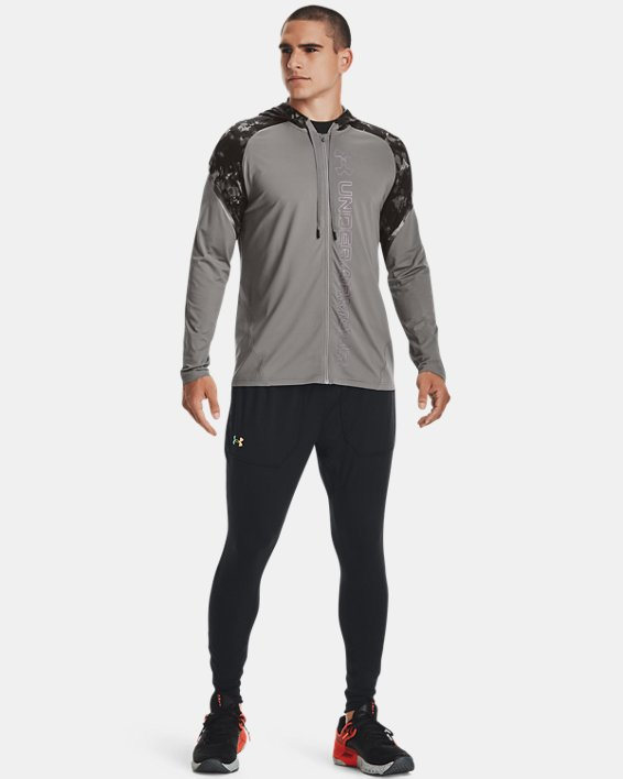 Men's UA RUSH™ HeatGear® Printed Full-Zip Hoodie, Gray, pdpMainDesktop image number 2