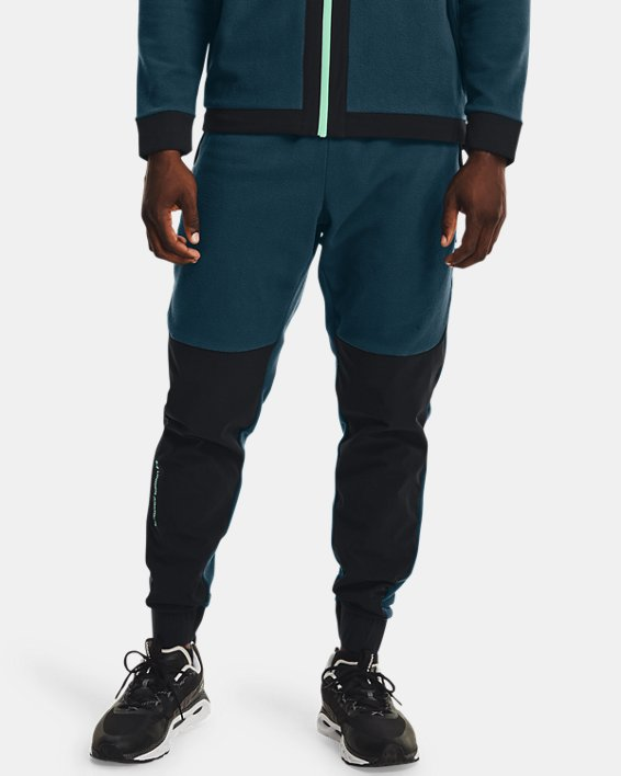 Men's UA RUSH™ Fleece Pants, Blue, pdpMainDesktop image number 1