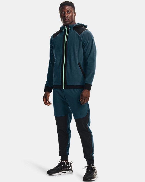 Men's UA RUSH™ Fleece Pants, Blue, pdpMainDesktop image number 3