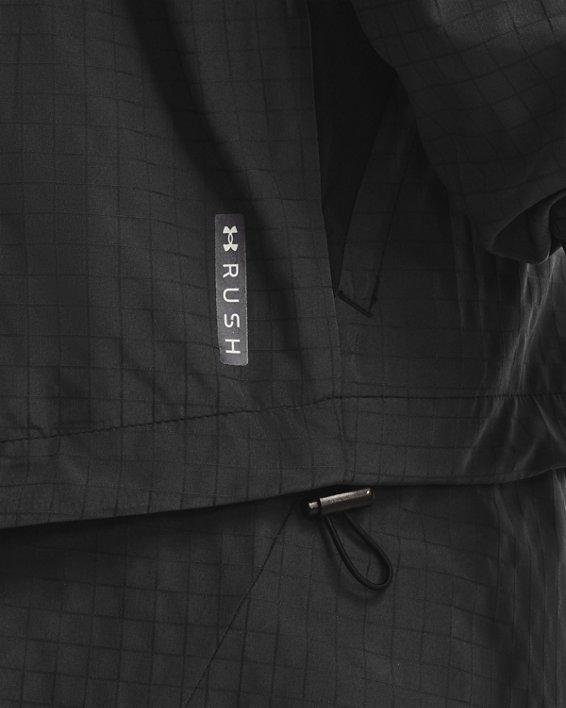 Men's UA RUSH™ Woven Legacy Windbreaker, Black, pdpMainDesktop image number 3