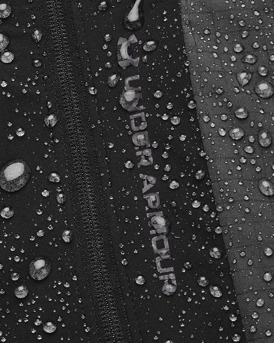 Men's UA RUSH™ Woven Legacy Windbreaker, Black, pdpMainDesktop image number 8