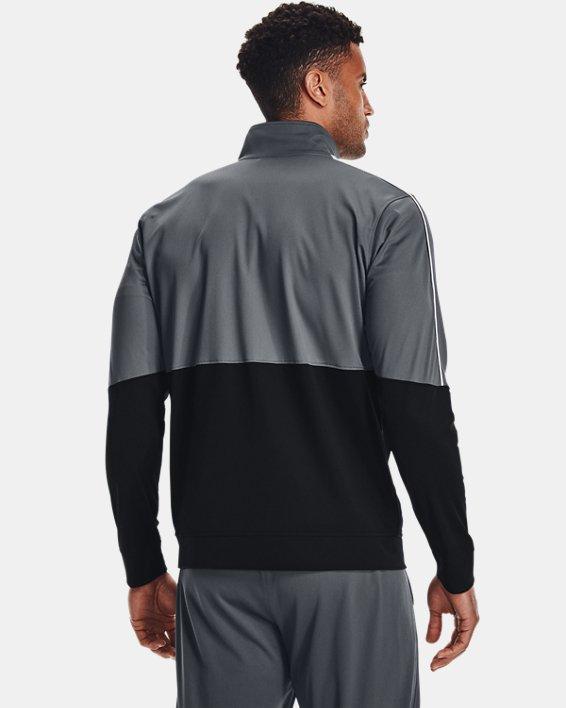 Men's UA Pique Track Jacket, Gray, pdpMainDesktop image number 2