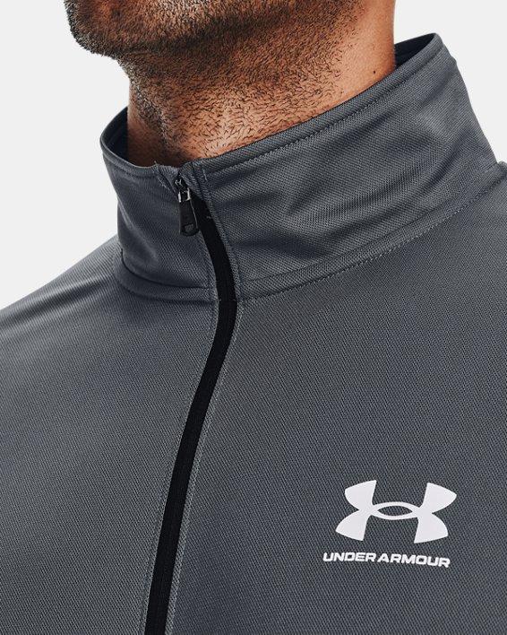 Men's UA Pique Track Jacket, Gray, pdpMainDesktop image number 5