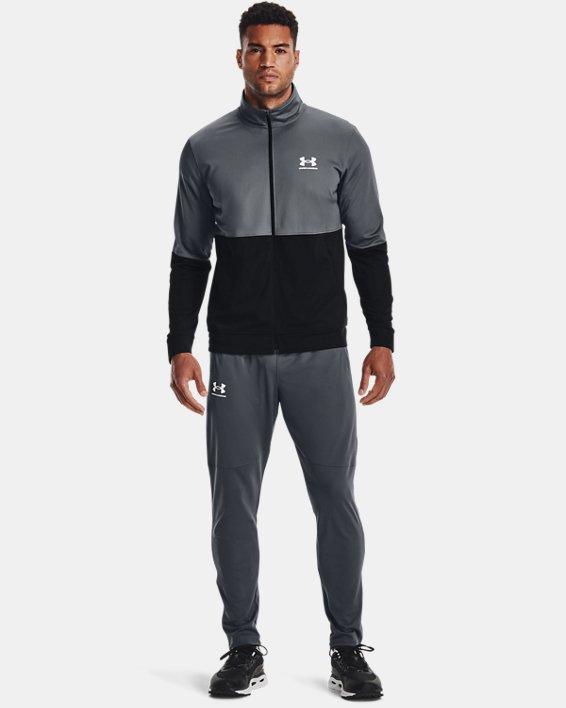 Men's UA Pique Track Jacket, Gray, pdpMainDesktop image number 0