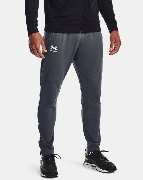 Men's UA Pique Track Pants, Gray, pdpMainDesktop image number 1