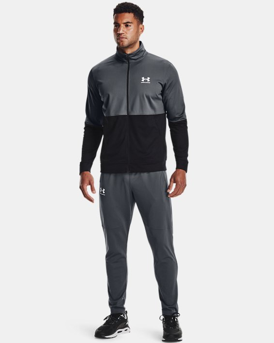 Men's UA Pique Track Pants, Gray, pdpMainDesktop image number 0