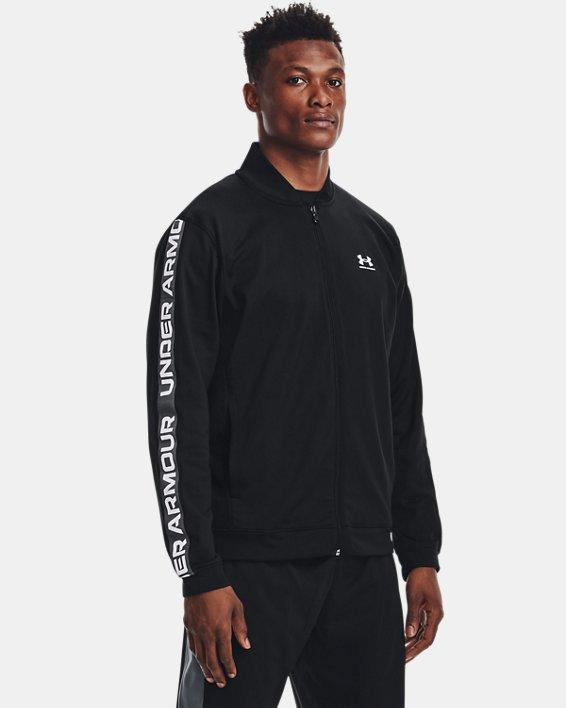 Men's UA Tricot Jacket, Black, pdpMainDesktop image number 0