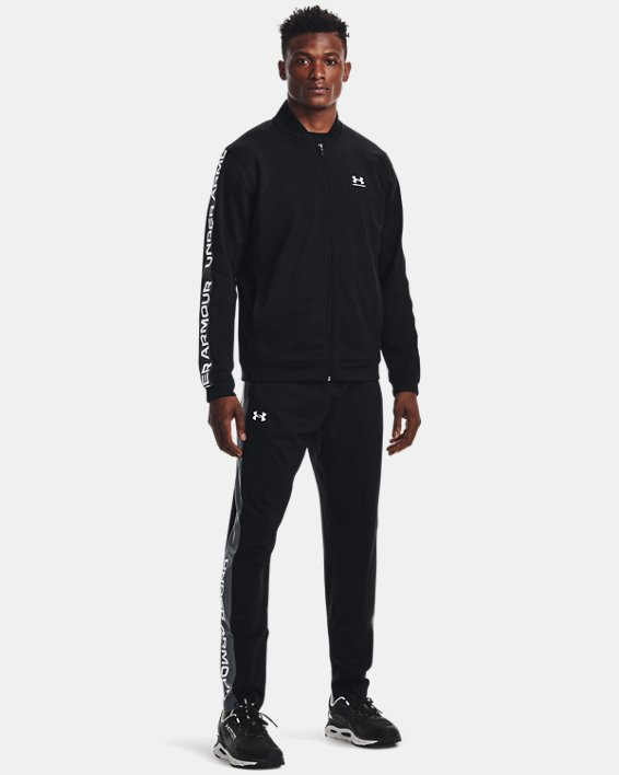 Men's UA Tricot Jacket, Black, pdpMainDesktop image number 2