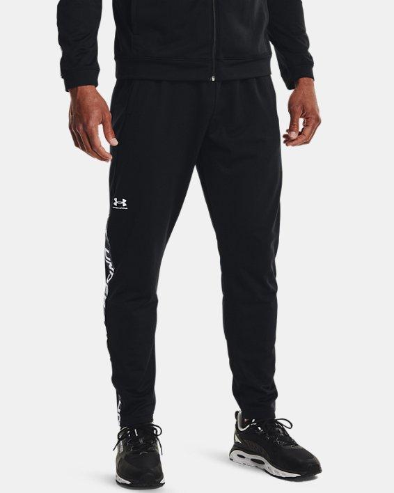 Men's UA Tricot Track Pants, Black, pdpMainDesktop image number 1