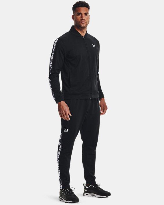 Men's UA Tricot Track Pants, Black, pdpMainDesktop image number 0