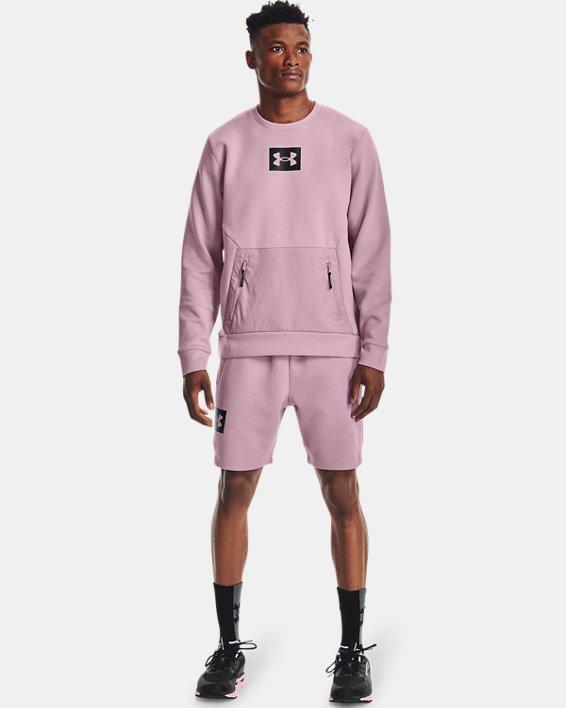 Men's UA Summit Knit Crew, Pink, pdpMainDesktop image number 0