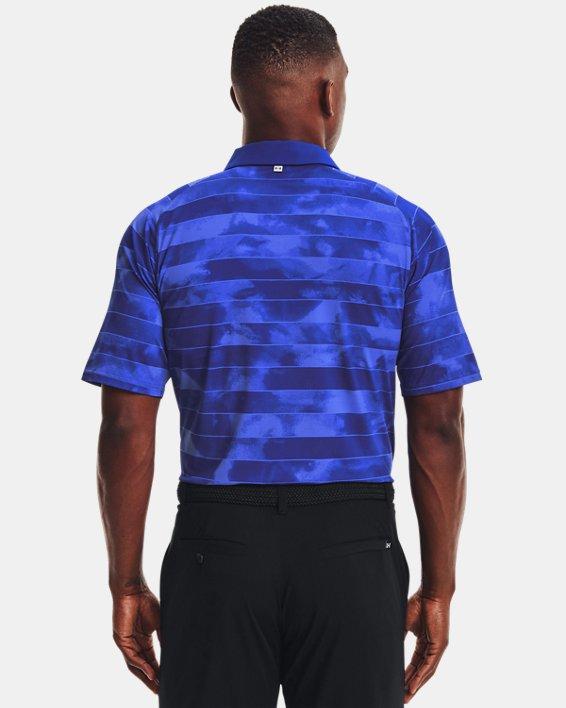 Men's UA Iso-Chill Fog Stripe Polo, Blue, pdpMainDesktop image number 1
