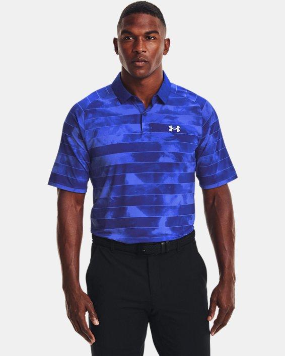 Men's UA Iso-Chill Fog Stripe Polo, Blue, pdpMainDesktop image number 0