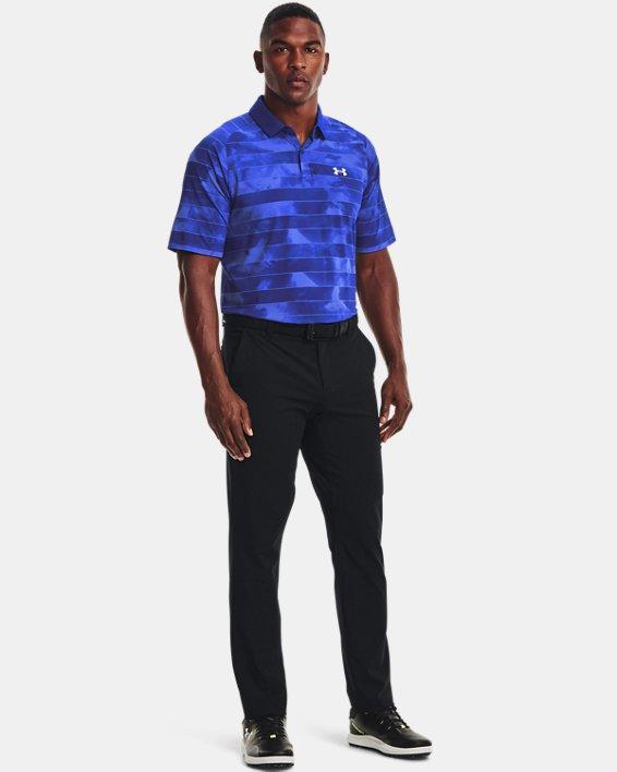 Men's UA Iso-Chill Fog Stripe Polo, Blue, pdpMainDesktop image number 2