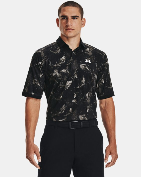 Men's UA Iso-Chill Feather Polo, Black, pdpMainDesktop image number 1