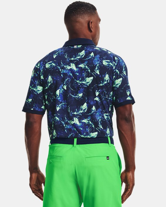 Men's UA Iso-Chill Feather Polo, Navy, pdpMainDesktop image number 2