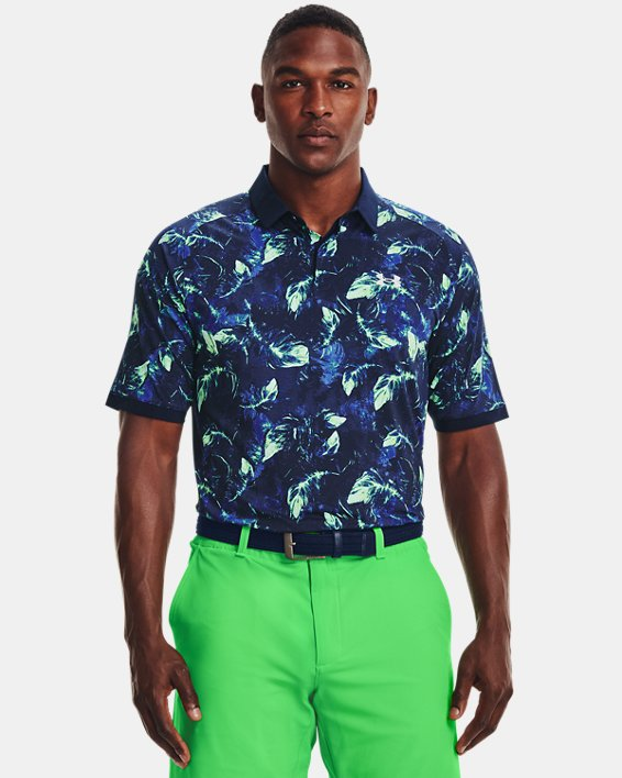 Men's UA Iso-Chill Feather Polo, Navy, pdpMainDesktop image number 1