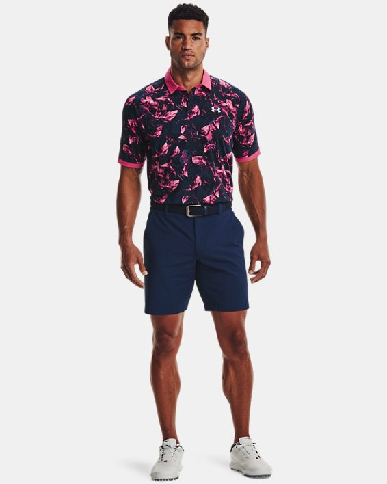 Men's UA Iso-Chill Feather Polo, Pink, pdpMainDesktop image number 0