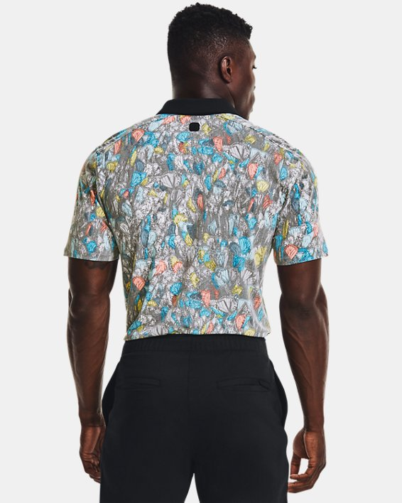 Men's Curry Monarch Migration Polo, White, pdpMainDesktop image number 1