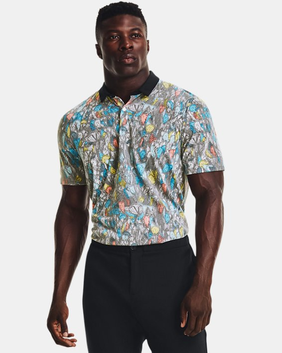 Men's Curry Monarch Migration Polo, White, pdpMainDesktop image number 0