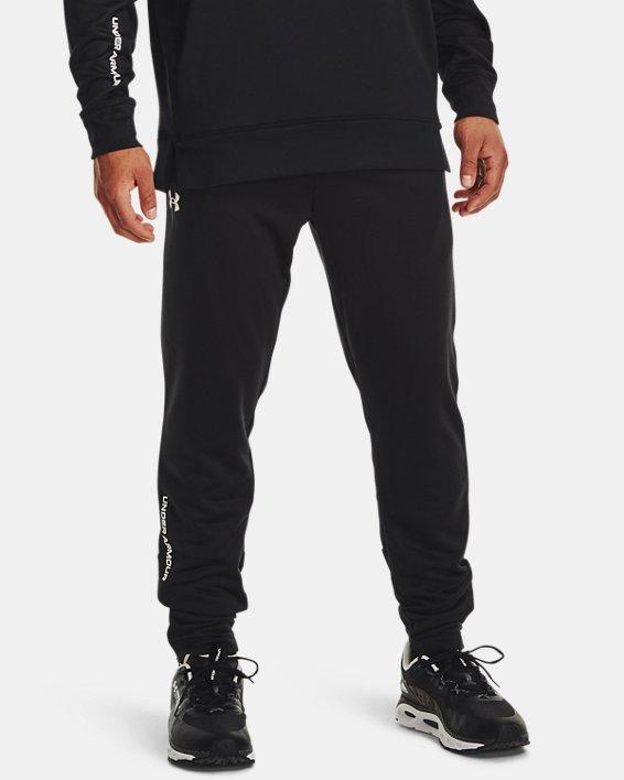 Men's UA Armour Terry Pants, Black, pdpMainDesktop image number 0