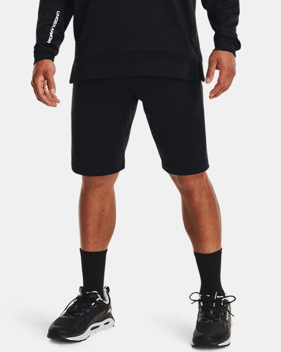 Men's UA Armour Terry Shorts, Black, pdpMainDesktop image number 1