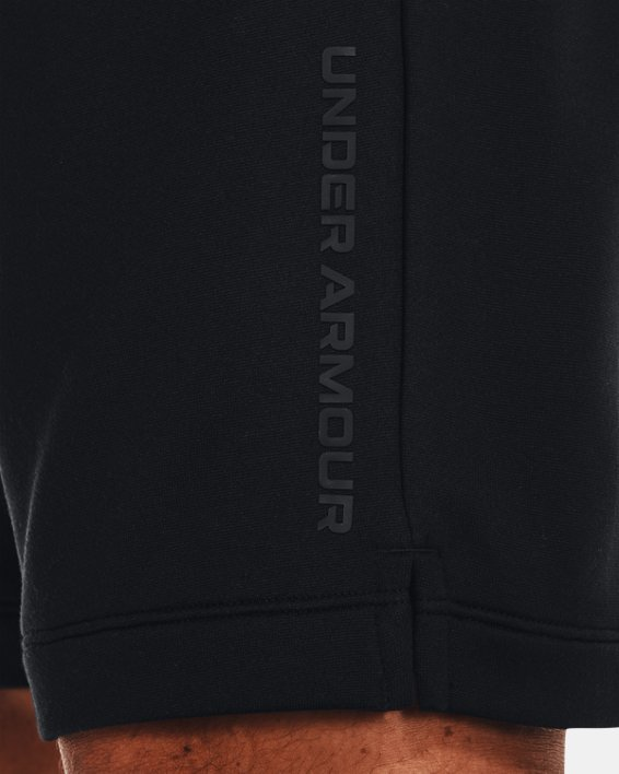 Men's UA Armour Terry Shorts, Black, pdpMainDesktop image number 3