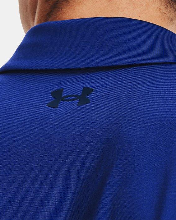 Men's UA Playoff Long Sleeve Playoff Polo, Blue, pdpMainDesktop image number 3