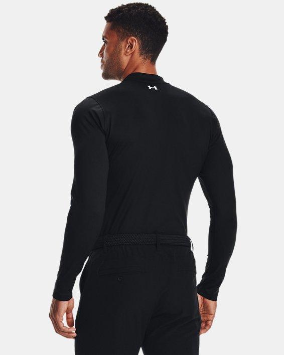 Men's ColdGear® Infrared Long Sleeve Golf Mock, Black, pdpMainDesktop image number 1